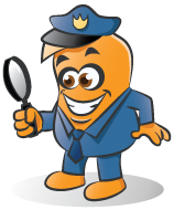 Our Mascot Dressed as Policeman